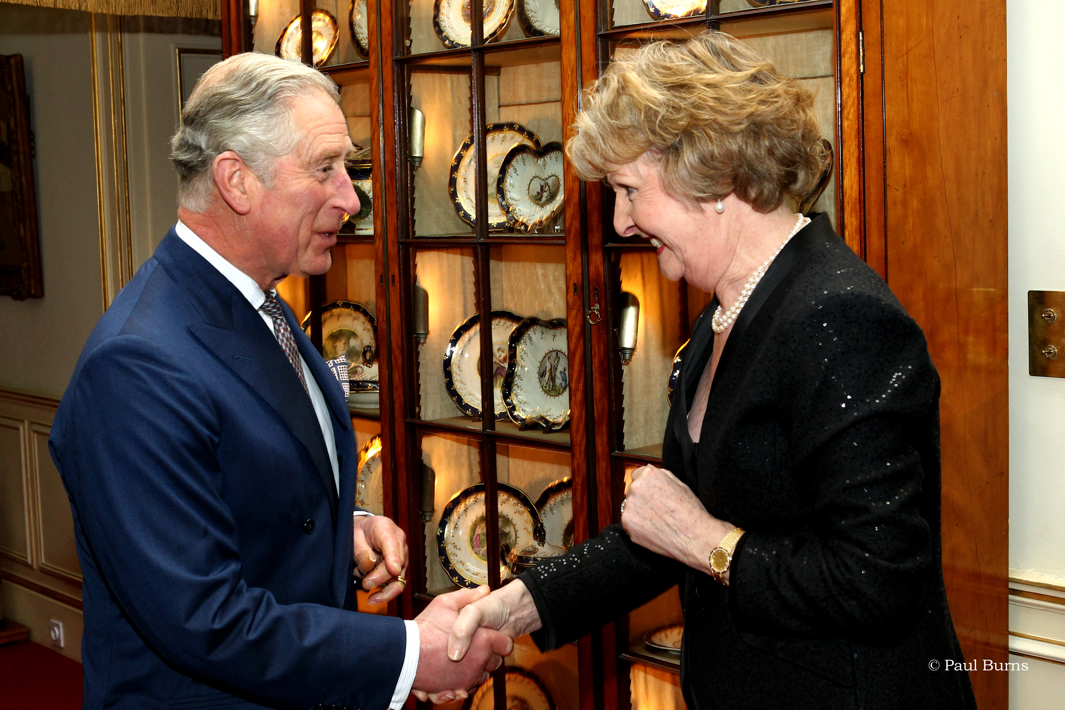 HRH the Prince of Wales and Dame Penelope Keith, DBE DL